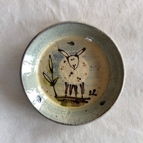 Josie Walter lunch plate with sheep