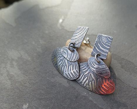 Ali Tregaskes Pebble Stack Dangle Earrings