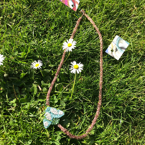 Jo Dewar gunmetal moth necklace