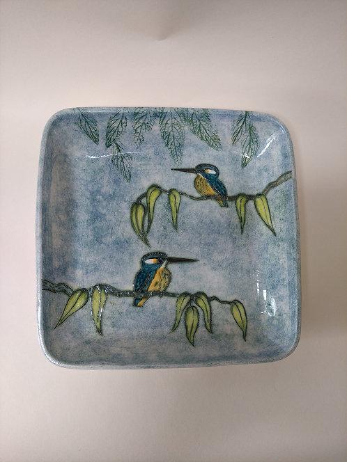 Jeanne Jackson kingfisher dish