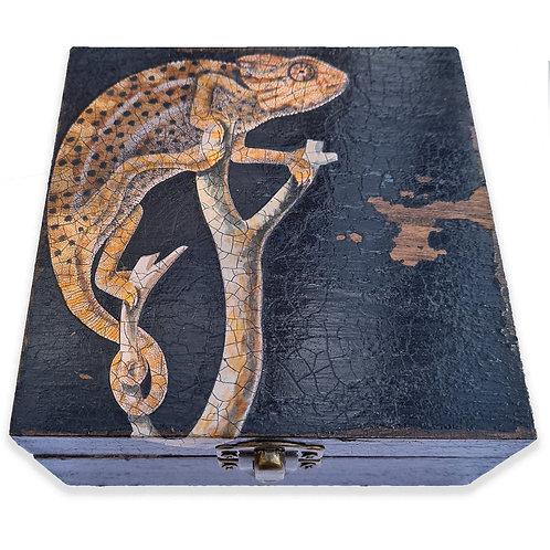 Jo Verity Chameleon decoupage box