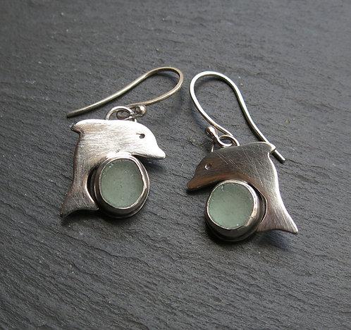 Amanda Rawling sea glass dolphin earrings