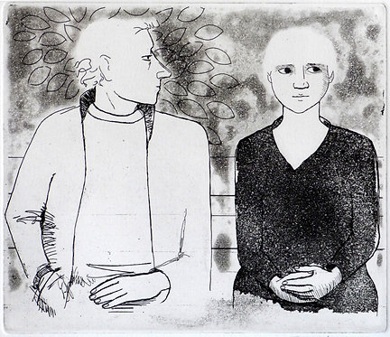 "Frans Wesselman etching "" Question"""