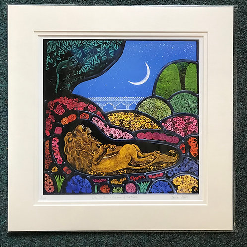 Tamsin Abbott limited edition Lion and Gazelle print