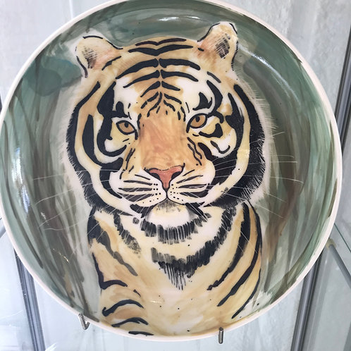 Carey Moon large Tiger Poetry bowl