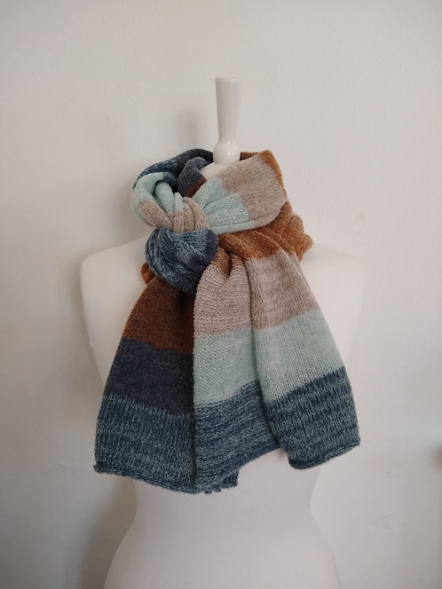 "Corinne Carr "" Walking by the Sea"" lambswool scarf"