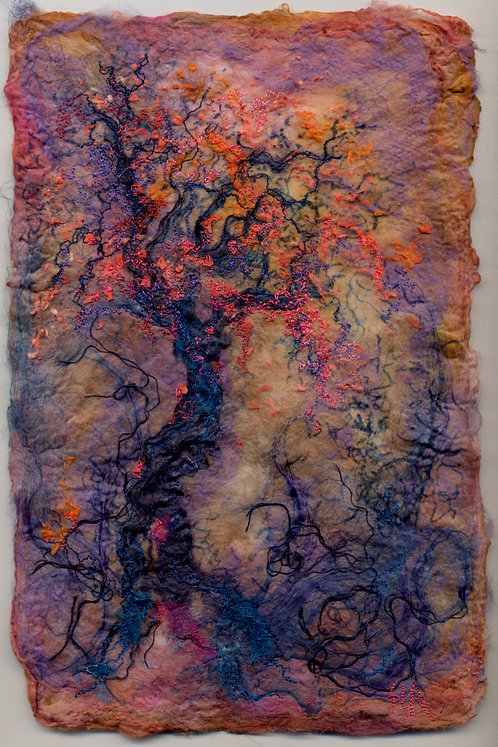 "Helen Crawford Textile Original "" Catching the Light"""