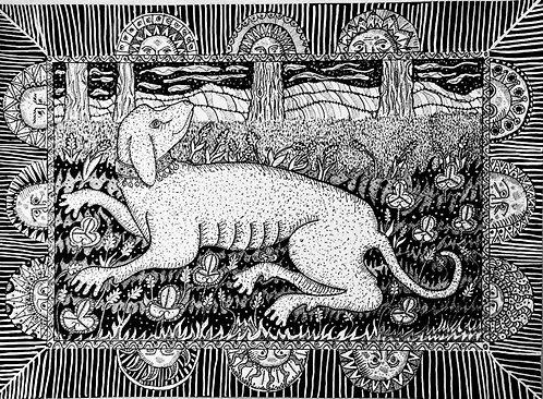 John Exton 'Dog Days' original drawing