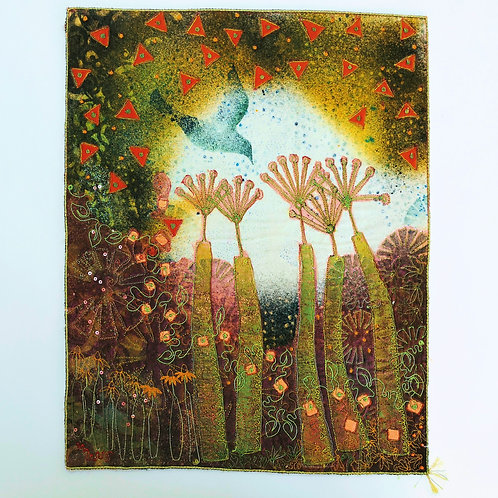Angie Hughes 'Green Surge' embroidery