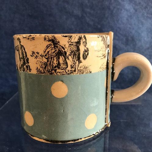 Virginia Graham blue spotty mug
