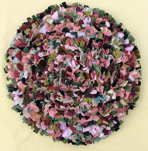 Jenni Stuart-Anderson seat mat pinks/greens