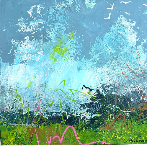 Jo Dewar 'Pembrokeshire Inspiration' original painting