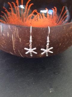 Carol Brook Silverfish snowflake drops