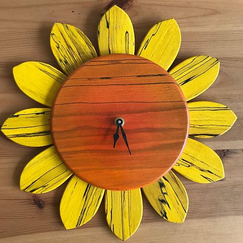 Gabriel Pfeiffer stained wood clock