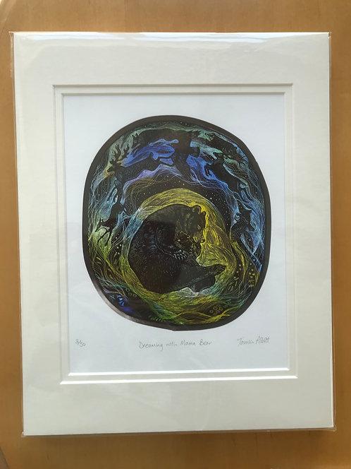 "Tamsin Abbott limited edition "" Mama Bear"" print"