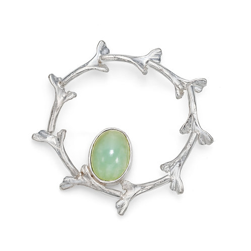 Rozie Keogh silver coral brooch