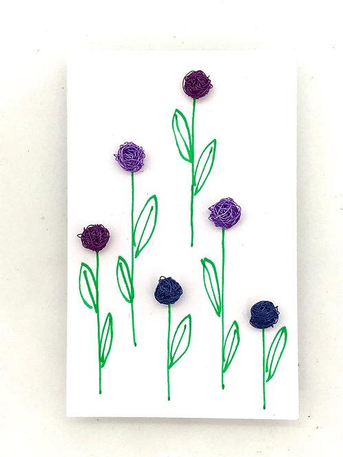 Jo Dewar wine violet and purple stud earrings