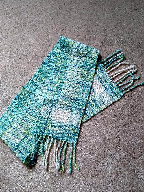 Chris Harris turquoise scarf - Ryeland fleece