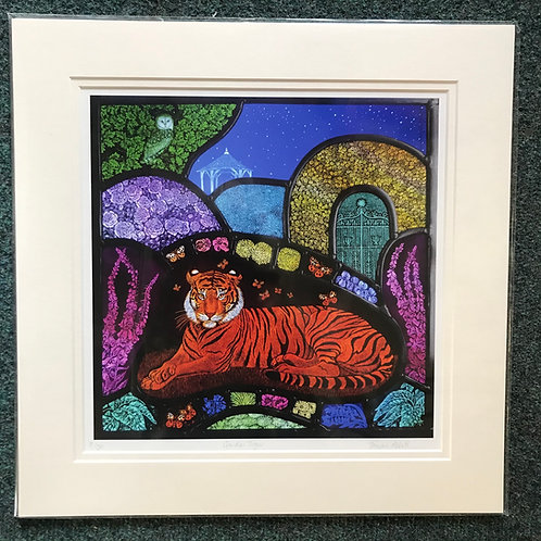 Tamsin Abbott limited edition Garden Tiger print