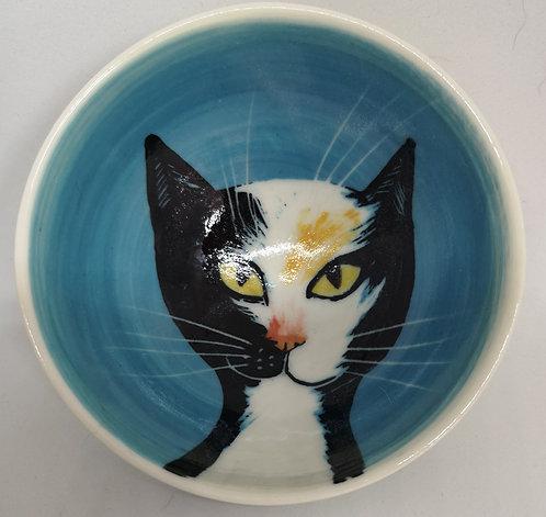 Carey Moon porcelain cat dish