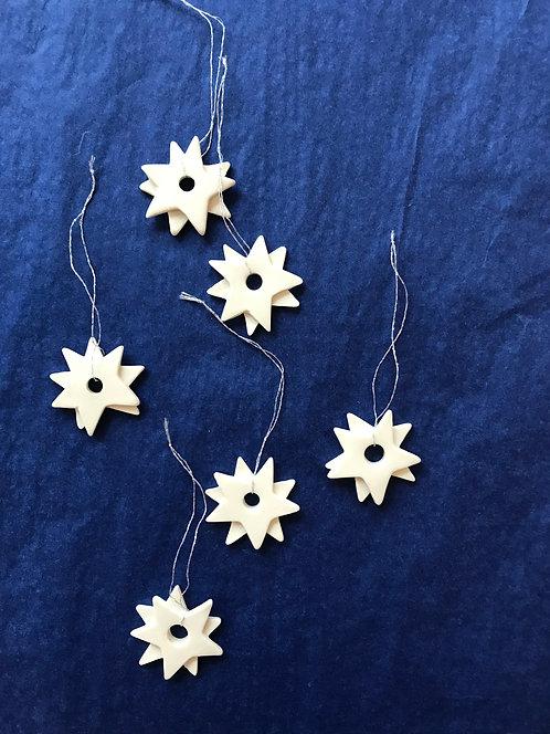 Meryl Till set of 6 porcelain stars