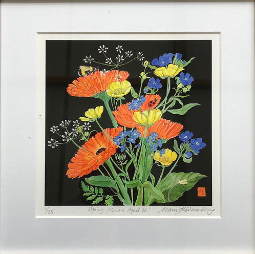 """Marie Therese King limited edition print"""" Spring Flowers April 2020"""""""