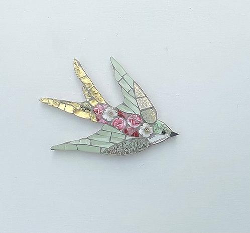 Emily Lawlor small 'Peony mosaic swallow
