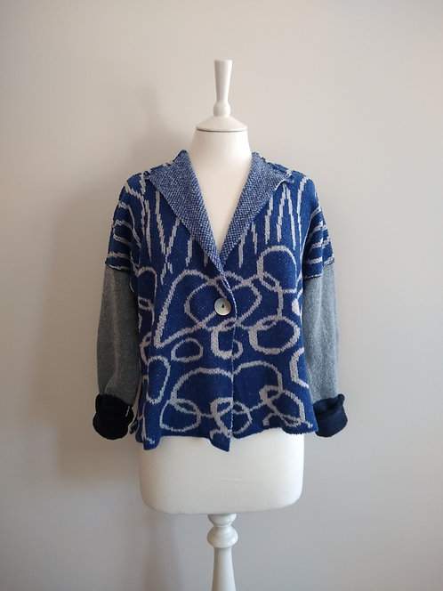 "Corinne Carr 'Seashore"" Lambswool jacket ( L)"