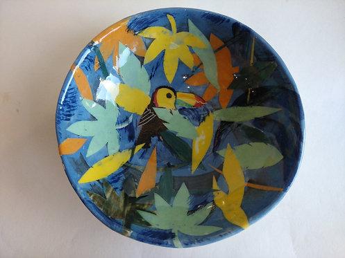 Jeanne Jackson toucan dish (no.27)