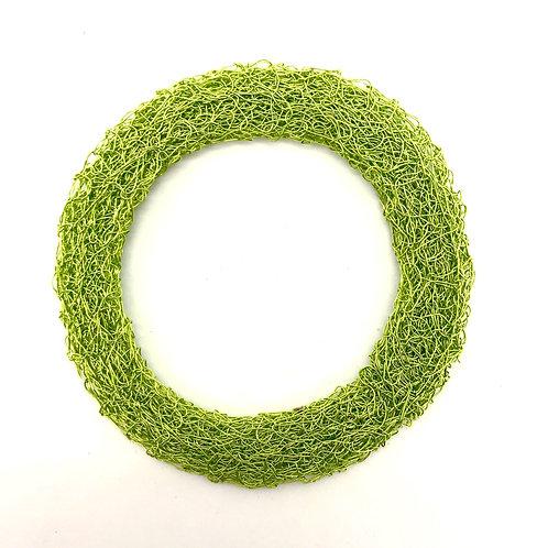 Jo Dewar lime knitted flat bracelet