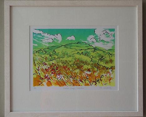 Tia Lambert 'British Camp Summer' framed screen print