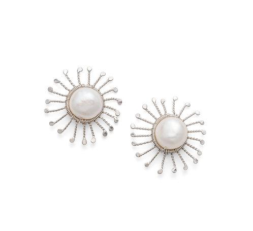 Rosie Keogh large sunstar stud earrings