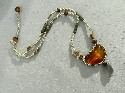 Sam Hemming heart shaped amber necklace