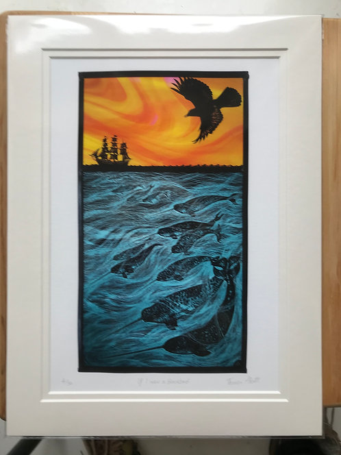 "Tamsin Abbott ""If I were a Blackbird"" limited edition print"