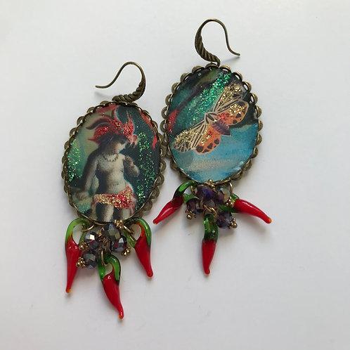 Diana Wilson Arcana 'Cactus Sprite' earrings