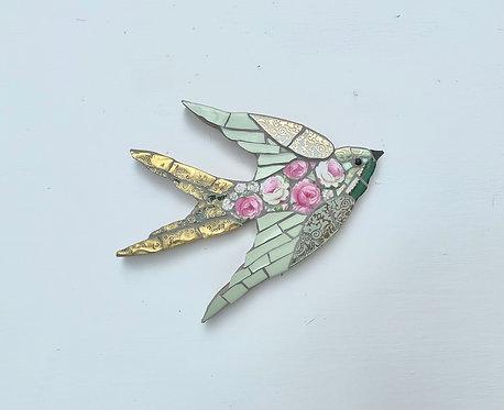 Emily Lawlor small 'Briar Rose' mosaic swallow