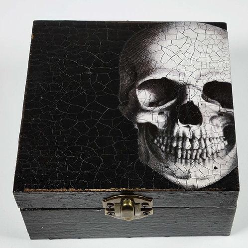 Jo Verity decoupage Skull box