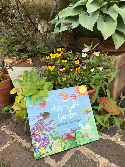 "Jackie Morris/James Mayhew "" Mrs Noah's Garden"""