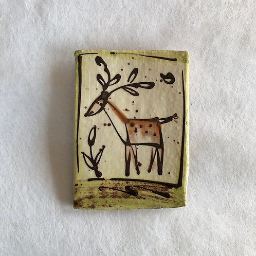 Josie Walter butter slab with deer