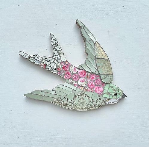 Emily Lawlor Green & Pink mosaic swallow ( Polka)