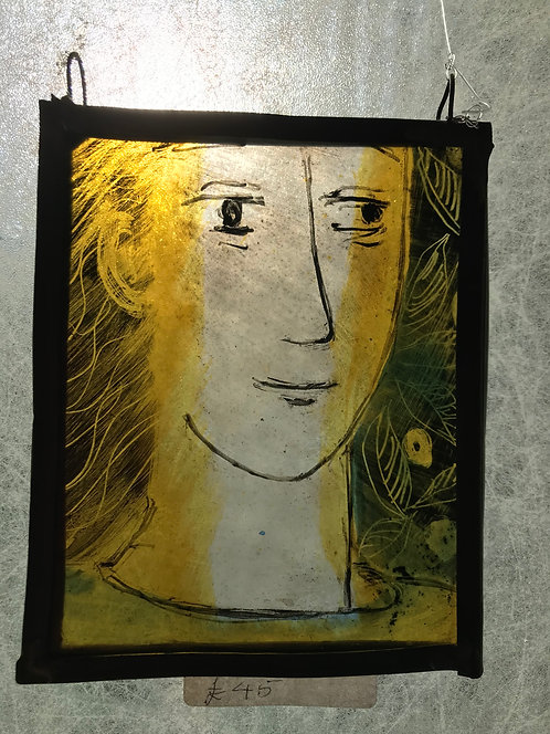 "Mollie Meager "" Portrait in Glass"""