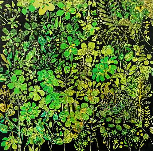 Jeanette McCulloch 'Black Green' painting