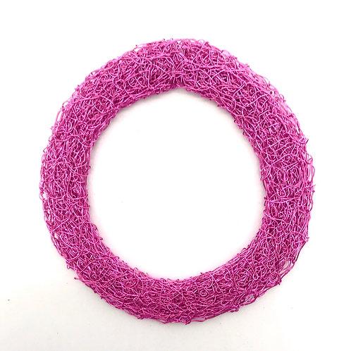 Jo Dewar pink knitted flat bracelet
