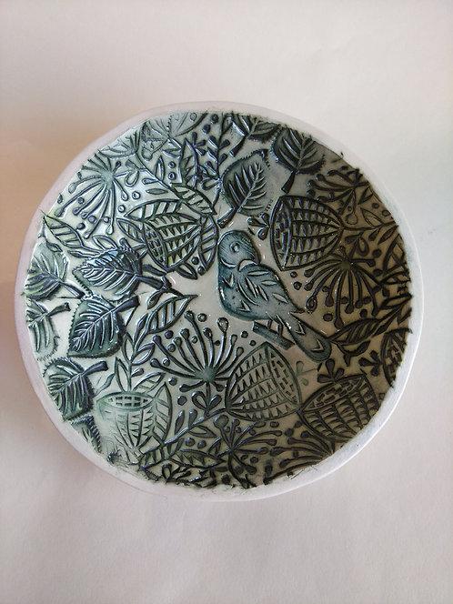 JeanneJackson texture bird dish (no.33)