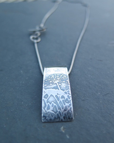 Ali Tregaskes Cow Parsley Pendant