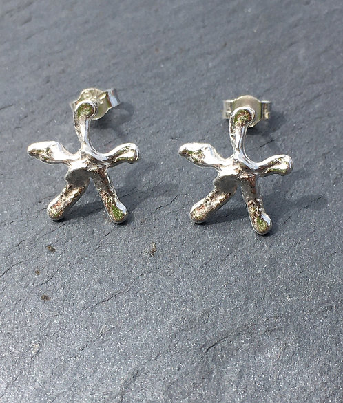 Carol James Silverfish - starfish.stud earrings