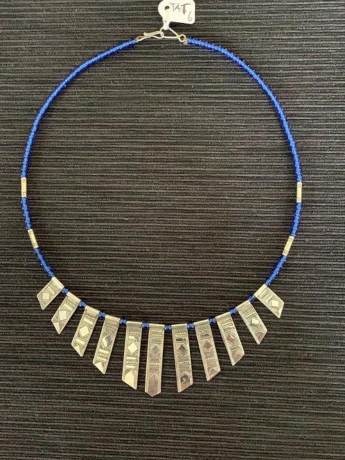 Jump4Timbuktu silver and glass 'celebra'necklace