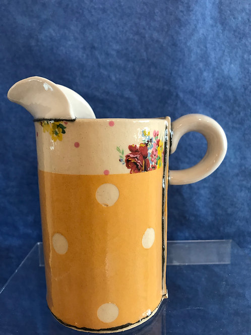 Virginia Graham jug yellow spotty