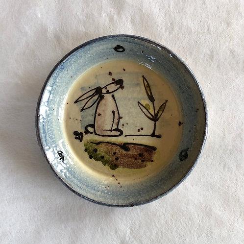 Josie Walter lunch plate with rabbit