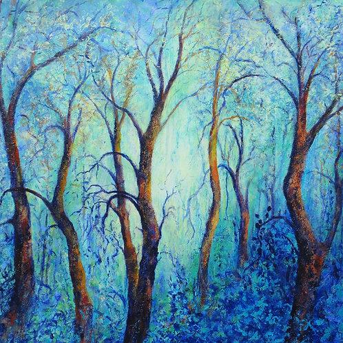 "HelenCrawford "" Dancing Trees"" giclee print"
